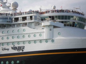 Bow and bridge of Disney Wonder in Spring 2008