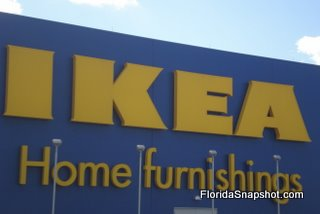 Here, IKEA in Orlando. The chain opens in May 2009 in Tampa.