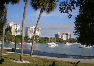 Looking east from Sarasota's Bayfront Park