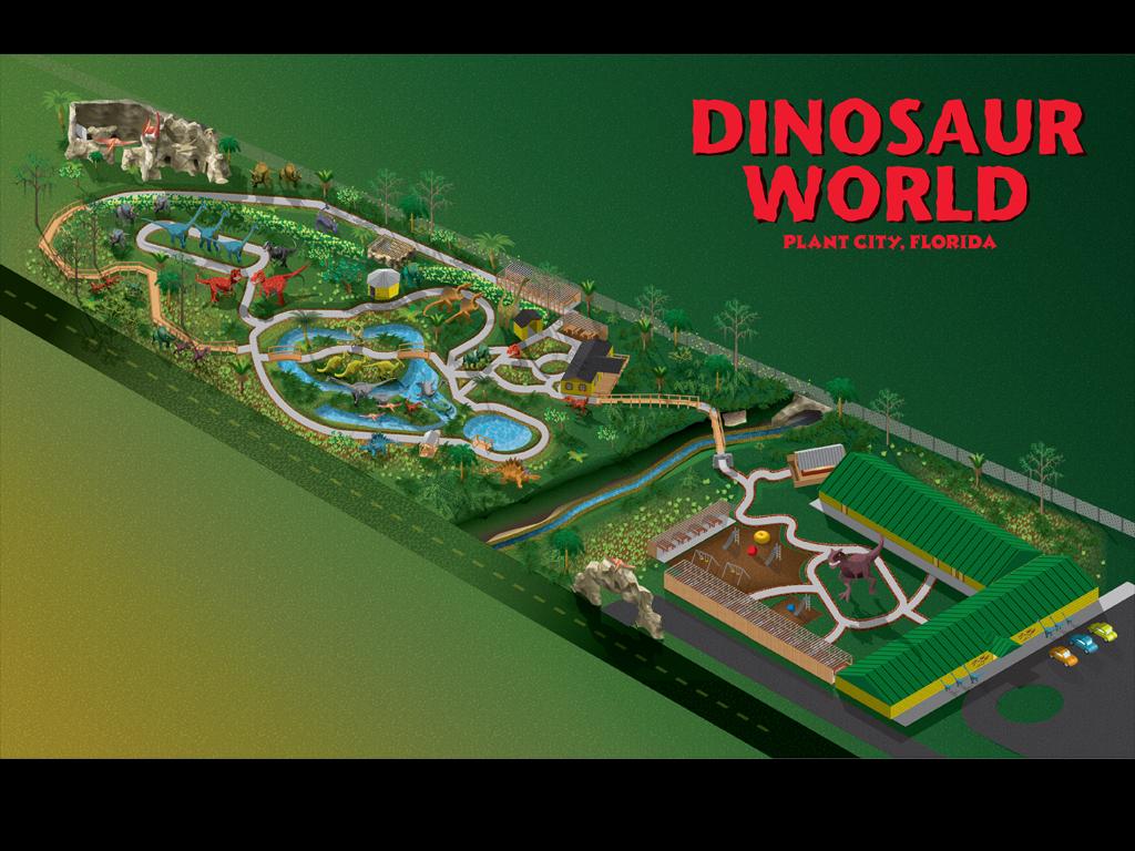 Dinosaur World Theme Park Near Orlando FloridaSnapshot - Florida map plant city