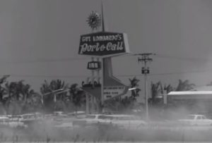 A screenshot from the series showing the Port-o-Call sign.